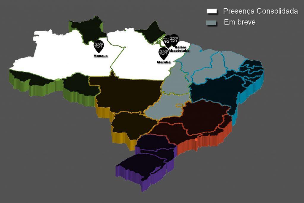 Onde atuamos e áreas de expansão